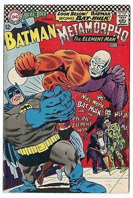 Brave & Bold #68 VF 8.0 ow/white pages  Batman  Metamorpho  DC  1966  No Reserve