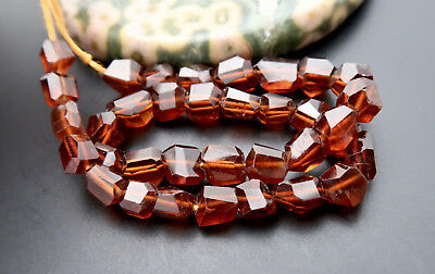 35 GEM ORANGE COGNAC HESSONITE GARNET FACETED AAAAA 3.4-6.8mm FANCY BEADS 8.35""