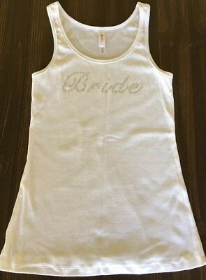 Bride Tank Top White Size Large