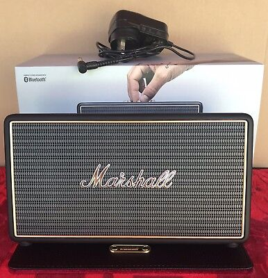 Marshall Stockwell Portable Bluetooth Speaker With Red Flip Cover