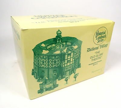 New Department 56 Dickens Village The Old Globe Theatre Handpainted Porcelain