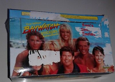BAYWATCH 1ST EDITION 1996 BOX IOO SEALED STICKER CARD PACKS NON SPORTS box poor