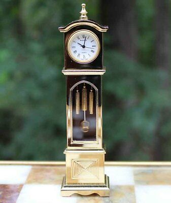 Miniature Brass Grandfather Clock Bulova Britannia B0551