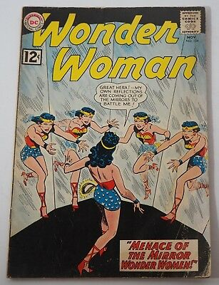 DC Comics Wonder Woman # 134 Nov 1962 Menace of the Mirror Wonder Women!