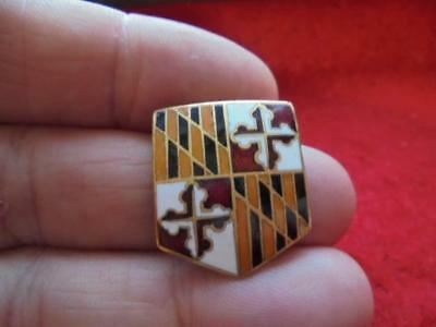 WWII Maryland National Guard 175th Infantry DUI DI Crest Pin