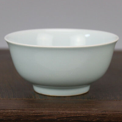 China old hand-carved porcelain Shallow the azure glaze A small bowl b02