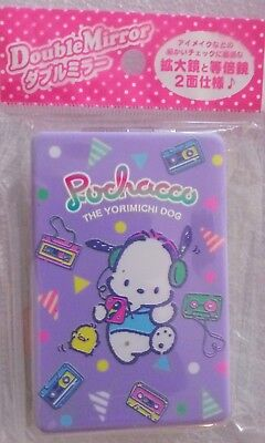 "Sanrio ""Pochacco"" Double Sided Compact Mirror 2018 *NEW w/tags*"