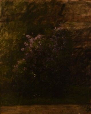Danish flower painter, early 20th century, flowers in landscape. Oil on board.