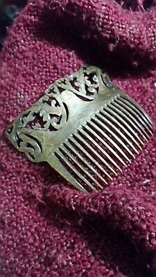 LAST CHANCE!!! RESIN Vintage Hair Comb/Piece Gold/Brown NEVER USED GREAT GIFT!!