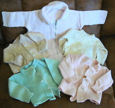 Lot of Vintage Baby Infant Sweaters Clothing 1940's