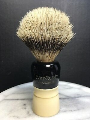 Vtg Ever Ready Shave Brush Unknown Model Rare Pure Badger Usa