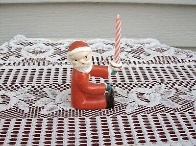 Vintage Relco Santa Noel REPLACEMENT LETTER E Christmas Candle Holder Japan