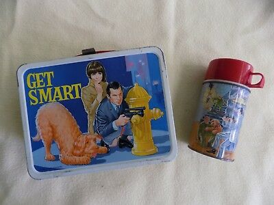 Vintage Original 1966 Get Smart Lunch Box & Thermos Set In Great Condition++