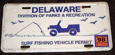 License Plat   DELAWARE DIVISION OF PAKS RECREATION SURF FISHING VEHICLE PERMIT