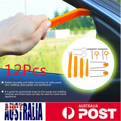 12pcs Car Body Auto Door Panel Console Dashboard Trim Removal Plastic Tool Set
