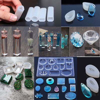 Silicone Mold Necklace Pendant Resin Jewelry Crystal Making Mold DIY Hand Craft