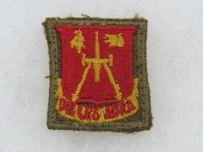 Scarce 252Nd Field Arty Bn Di-Dui-Cloth-Fully Embroidered-Eto (Sep)