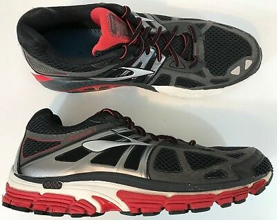 d4696f52478cf Brooks Beast 14 Men s Running Shoes Size 14 Black Gray Red Fast Shipping