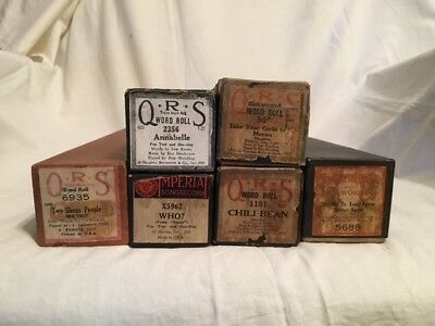 QRS Word Roll Imperial Supertone Lot of 6 Piano Rolls Fox Trot One-Step