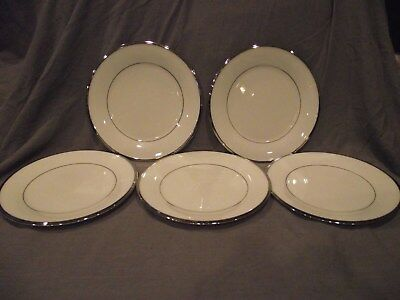 """Set of 5 Lenox Solitaire 6 1/2"""" Bread and Butter/Dessert Plates - USA"""