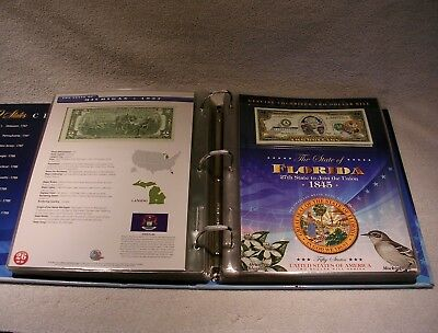 U.S. Two Dollar Bill Colorized State Collection $2 Uncirculated Authentic Qty 56