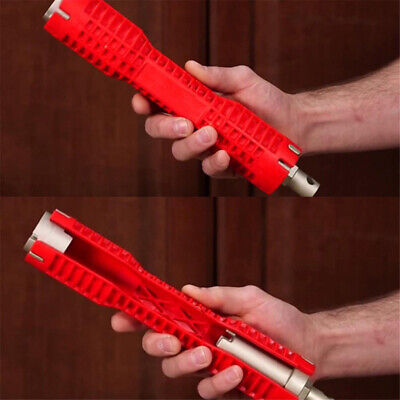 Red Faucet And Sink Installer Wrench Double Head Wrench Anti-Slip Handle Tool