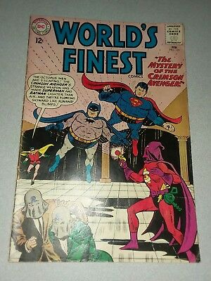 Worlds Finest 131 dc comics 1st appearance the crimson avenger 1962 silver age