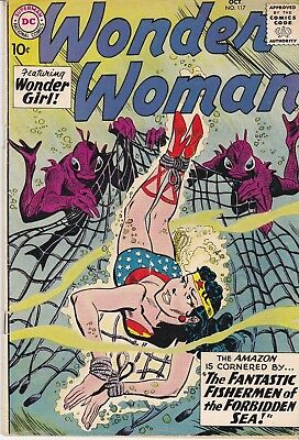 Wonder Woman #117 Silver Age Comic Book 1960 DC Wonder Girl Bondage Cover