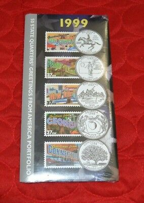1999 50 State Quarters Greetings from America Portfolio New - Sealed