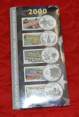 2000 50 State Quarters Greetings from America Portfolio New - Sealed