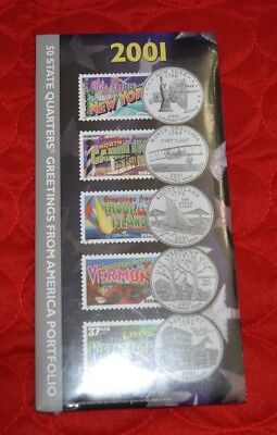 2001 50 State Quarters Greetings from America Portfolio New - Sealed