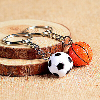 4cm Softball Ball Basketball Golf Charm Keychain Pendant H&P