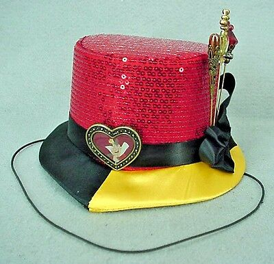 QUEEN OF HEARTS from Alice in Wonderland Mini Top Hat Disneyland Adult - NEW NWT