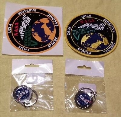 NASA Rodent Research V SpaceX TACONIC UCLA  Bioserve Space Patch Sticker Keychai