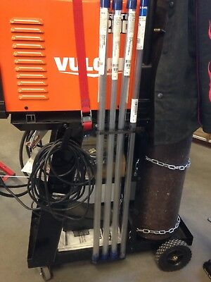 Tig welding rod holder for attaching to weld cart