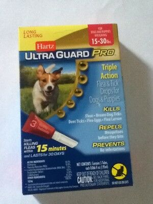 Ultra Guard Pro For Dogs 15-30 Pounds 3 Applications BRAND NEW 3 Months