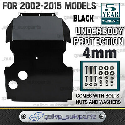 Fits Nissan Navara D22 Bash Plate 4MM Steel Black 2002-2015 PREMIUM QUALITY