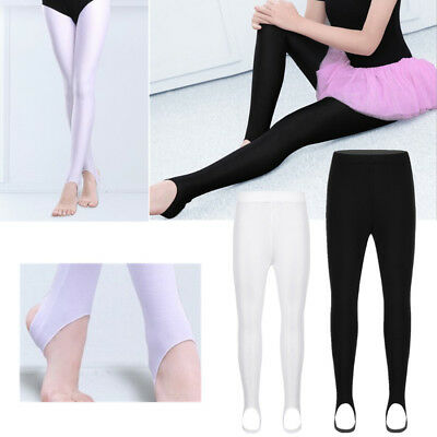 2445412c5 GIRLS KIDS BALLET Stirrup Tights Pantyhose Gymnastics Leotard Dance ...