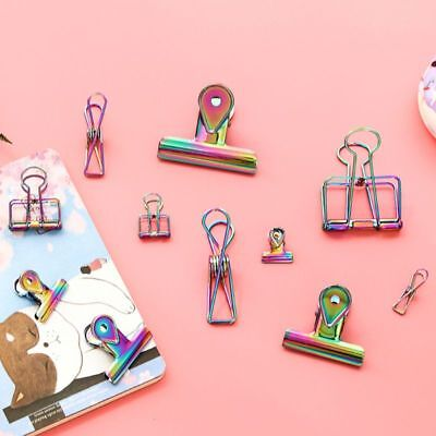 Metal Binder Clips Notes Letter Photo Paper File Clip Stationary School Office