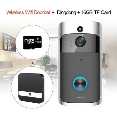 Wifi Wireless Video Doorbell Smart Door Bell✅Two-Way Talk ✅Dingdong✅ 16GB Memory