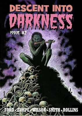 222DESCENT INTO DARKNESS#2 Rainfall chapbook. Tales of horror and the macabre