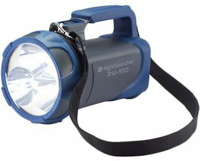 Nightsearcher TRIO-550 Rechargeable, LED Handlamp Water Resistant, 600 m Beam 12