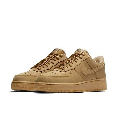 Nike Mens Air Force 1 07 WB Flax Wheat Brown Shoes Sneakers AF1 AA4061-200