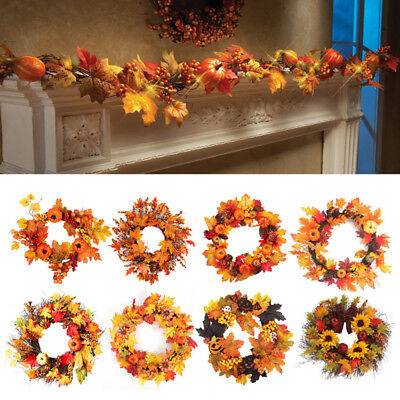 1pc Maple Leaves Garland With Led String Light Thanksgiving Autumn Hanging Plant Vines Garland For Wall Door Fence Decor Event & Party