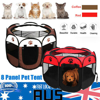Pet Soft Playpen Dog Cat Puppy Play Large Round Crate Cage Tent Portable 2 Color