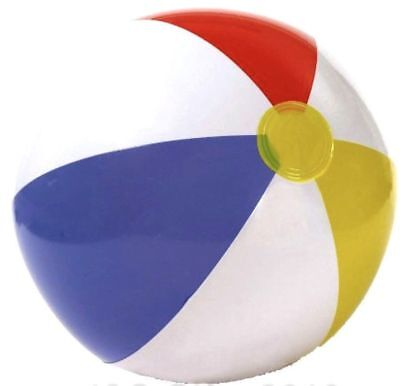 "Inflatable Blow up Panel Beach Ball 20"" 51cm Swimming Party Fun"