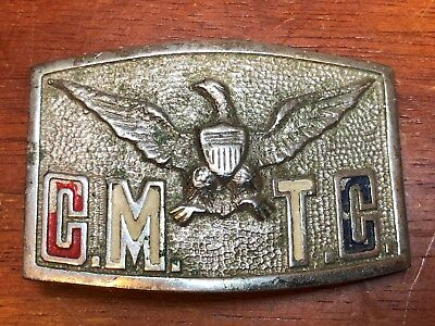 Vintage Citizen's Military Training Camp CMTC Eagle Belt Buckle