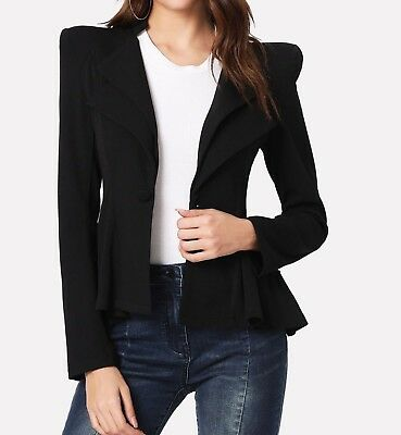 5281cb7786f1 NWT THEORY BRANEVE Continuous Wool Blend Blazer Jacket Beige Size 2 ...