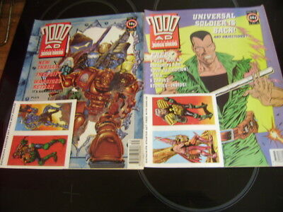 2000Ad Progs 750 / 751 With Free Gifts Attached -Rare