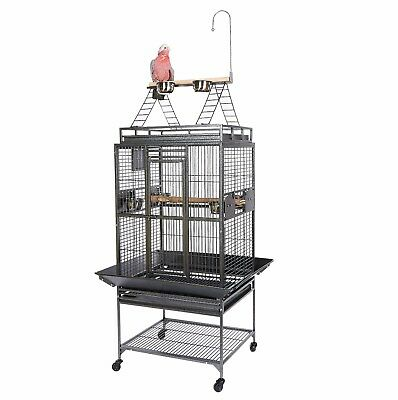 Kookaburra Almond Parrot Cage Strong Cage Black All Small Medium Large Parrots